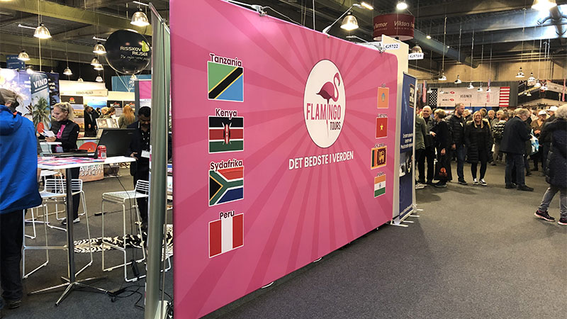 Flamingo Tours messebanner